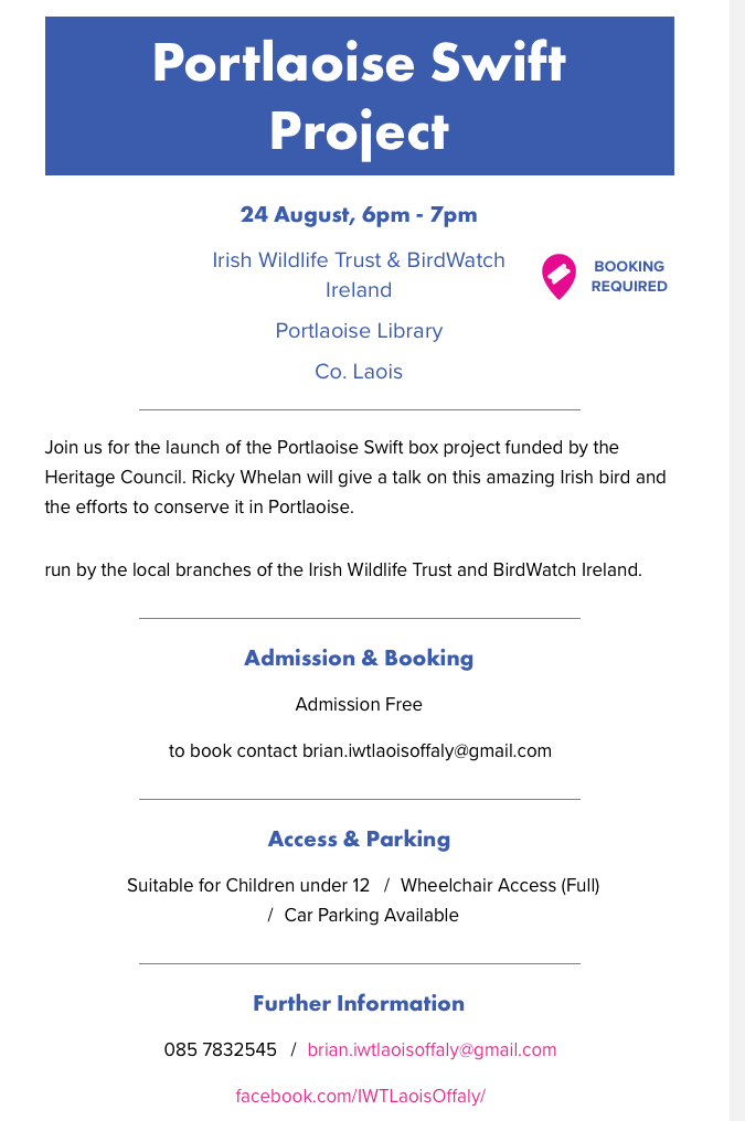 Portlaoise Swift Project