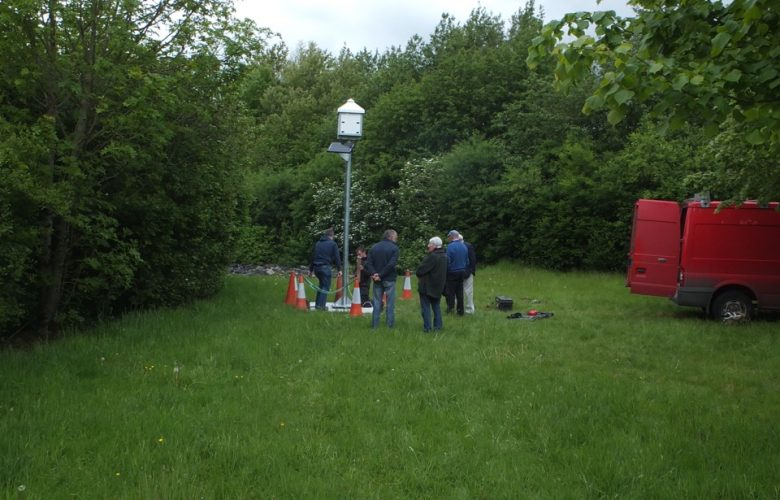 Swift Tower being installed in 2016 by Roscommon Tidy Towns volunteers