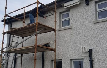 Swift boxes being installed at Dermot Doran's home in Kildare.