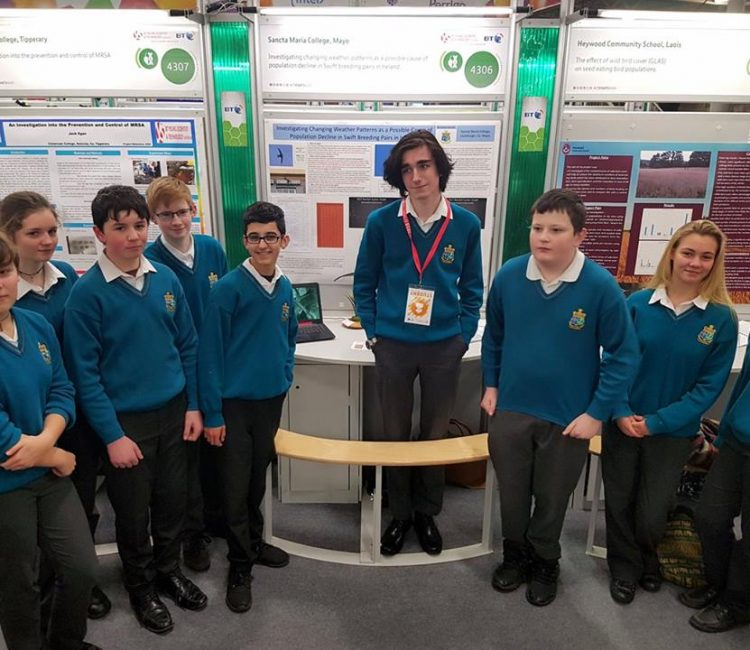 Seoirse Swanton at the BT Young Scientist Exhibition