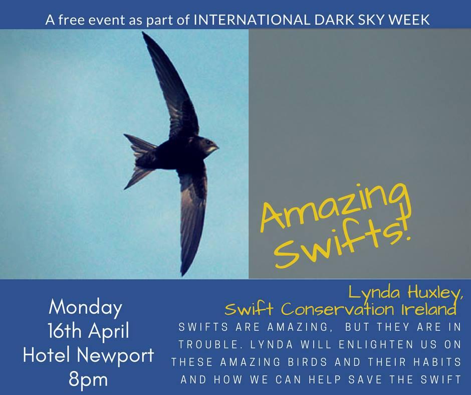 Poster for Newport talk by Lynda Huxley